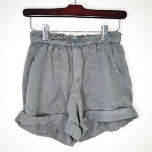 Aerie Baggy Fit Paperbag Style Cuffed Shorts